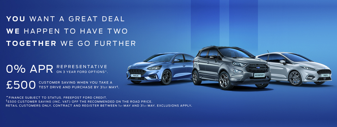 Ford £500 Test Drive Offer